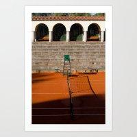 tennis Art Prints featuring Tennis by Sébastien BOUVIER