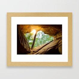 Sunshine in a Dark Cave Framed Art Print
