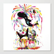 Yay! Bath Time! Canvas Print