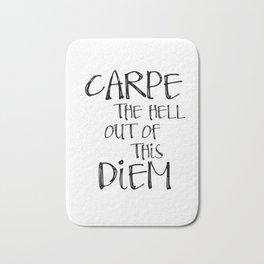 Carpe Diem, Famous quotes, Seize the day, Most sold items Bath Mat