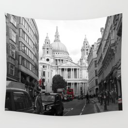 London Town city,St Paul Cathedral decor. Wall Tapestry