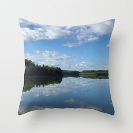Calm Coastal Summer Throw Pillow