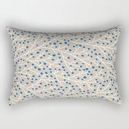 Blue & White Berry Branches Rectangular Pillow