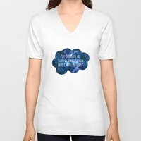 the fault in our stars V-neck T-shirts featuring The Fault In Our Stars by CATHERINE DONOHUE