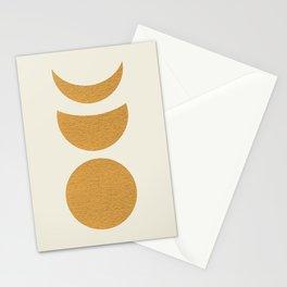 Lunar Phase - Gold Stationery Cards