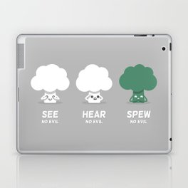 Spew No Evil Laptop & iPad Skin