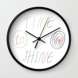 Time to Shine Wall Clock