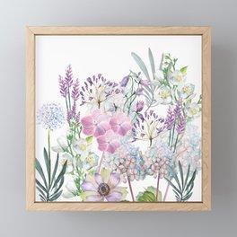 Spring Flowers Bouquet Framed Mini Art Print