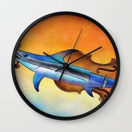 Fisholin V1 - instrumental fish Wall Clock