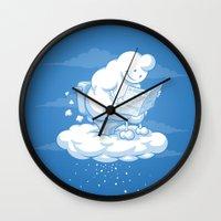 snowflake Wall Clocks featuring Snowflake by Murat Özkan