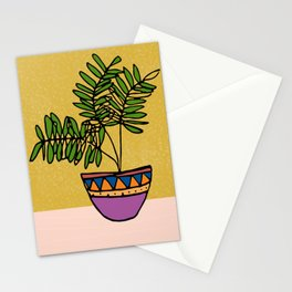 Plant in pot Stationery Cards