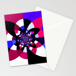 Magenta Purple Indigo Kaleidoscope Mandala Stationery Cards