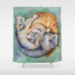 Cuddle Cats Shower Curtain