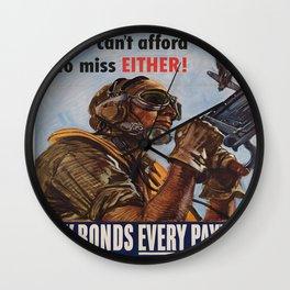 Vintage poster - War Bonds Wall Clock