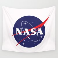 nasa Wall Tapestries featuring I Need My Space NASA by NoHo