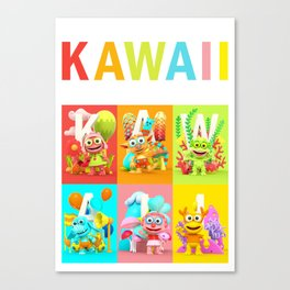 Kawaii Poster Canvas Print