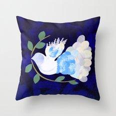 Peace Spirit Dove Throw Pillow