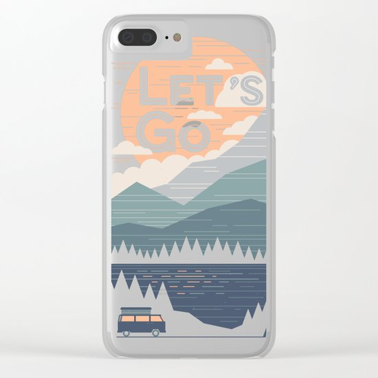 Let's Go Clear iPhone Case