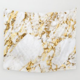 Luxe bright golden Wall Tapestry