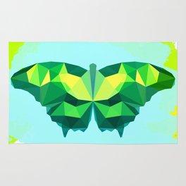 Butterfly printable wall art, minimalist art, colored art, geometry print, kids room decor Rug