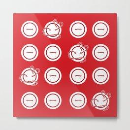 Buttons 4x4 Metal Print