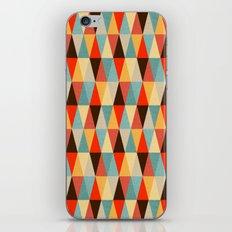 Red & Brown Geometric Triangle Pattern iPhone & iPod Skin
