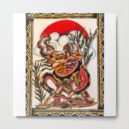 Bert Grimm's Serpent Girl Metal Print