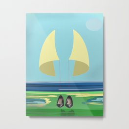 Soaring the Airs with May on a Relaxed Sunday - shoes stories Metal Print