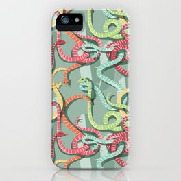Snakes pattern 002 iPhone Case
