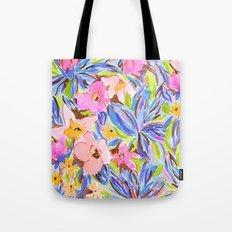 Flaunting Floral Periwinkle Tote Bag