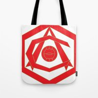 fire emblem Tote Bags featuring emblem by arsenalgooner