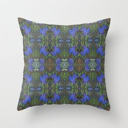 Of Fish and Feathers Repitition 1 Throw Pillow