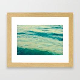 Ocean Waves Abstract Framed Art Print