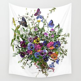 Pansy Delight Wall Tapestry