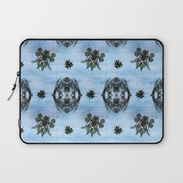 Ghostly Floral Bees Laptop Sleeve