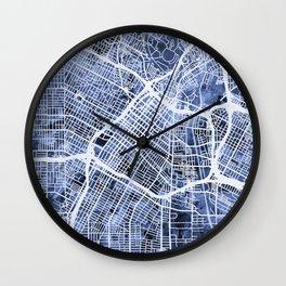Los Angeles City Street Map Wall Clock