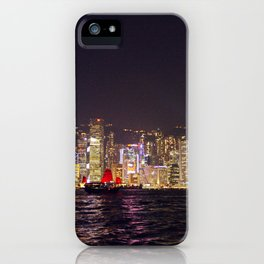 Hong Kong Night Skyline iPhone Case