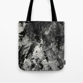 Impossibility - Textured, black and white abstract Tote Bag
