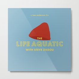 The Life Aquatic with Steve Zissou Beanie Poster Metal Print