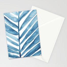 Blue Palm Leaf Crop Stationery Cards