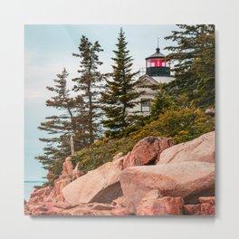 Maine Lighthouse Acadia National Park Bass Harbor Print Metal Print