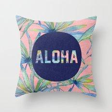 Aloha - pink version Throw Pillow