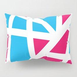 Abstract Interstate  Roadways Aqua Blue & Hot Pink Color Pillow Sham