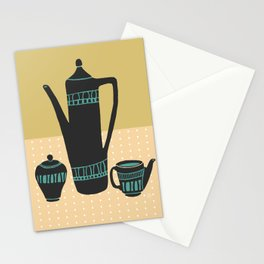 Coffee with cream and sugar Stationery Cards