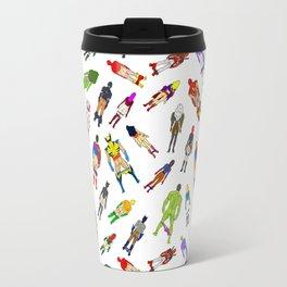 Superhero Butts with Villians - Light Pattern Travel Mug