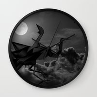 crane Wall Clocks featuring Crane by JPeG