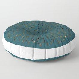 Vinefly on blue Floor Pillow