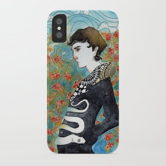 The White Snake iPhone Case