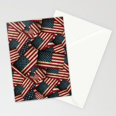 Patriotic Grunge Style American Flag Stationery Cards