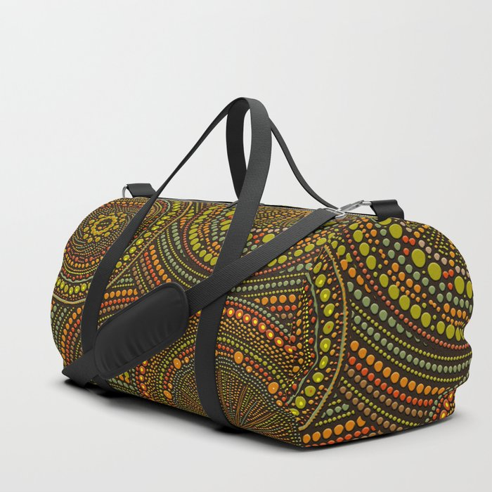 Dot Art Circles Aboriginal Art #2 Duffle Bag